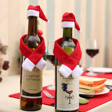 How To Make Decorative Wine Bottle Stoppers Hot New Christmas Wine Bottle Accessory Santa Hat Scarf Bottle 30