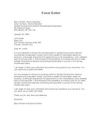 Sample Construction Cover Letters 95 Construction Bid Cover Letter Marketing Request For