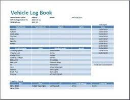 Logbook Samples Ms Excel Vehicle Log Book Template Business Formats Templates