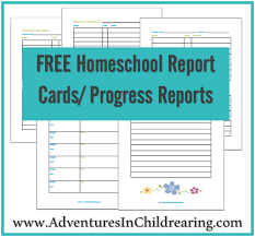 Printable Progress Reports For Elementary Students Free Homeschool Printable Progress Report And Report Card