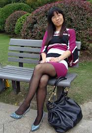 Asian woman in stocking