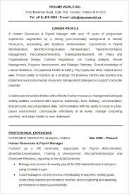 human resources resume sample resume samples for hr