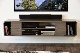 Floating Tv Stand Round Curved Floating Tv Stand Radius Driftwood Gray Woodwaves