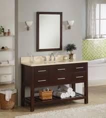 inch single sink modern cherry bathroom vanity with open shelf sinks single bowl undermount stainless