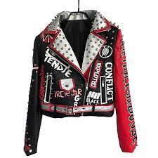LIANDESHENG Leather Jacket Women Short Punk ... - Amazon.com