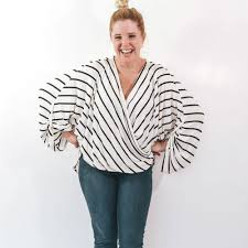 Blouse Sewing Pattern Inspiration The Neve Wrap Top A Ladies Wrap Blouse Sewing Pattern Rebecca Page