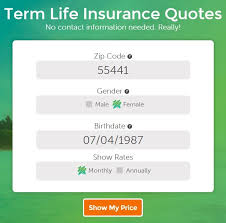 life insurance quote without personal information