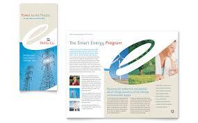 Microsoft Office Tri Fold Brochure Template Utility Energy Pany Tri Fold Brochure Template Word Publisher