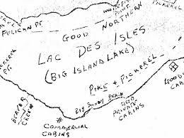 Lac Des Iles Depth Chart Lac Des Iles Historical Fishing Map
