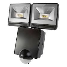 external downlights with pir. timeguard led twin floodlight with pir sensor - black external downlights pir 7