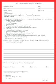 How To Write Up A Written Warning For An Employee Written Warning Form Employee Write Up Lovely Template Notice Sample