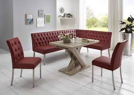 Moderne Eckbankgruppe Wildeiche Dekor Eckbank 2 Stühle Und Esstisch Mit Synchronauszug Bezug Kunstleder Hoher Sitzkomfort Sitzpolster