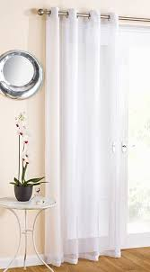 white sparkle voile curtain panel eyelet heading 54 wide x 108 drop 138cm x 274cm extra long length co uk kitchen home