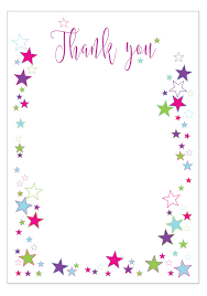Blank Thank You Notes Thank You Notes With Envelopes Pack Of 10 Star Design