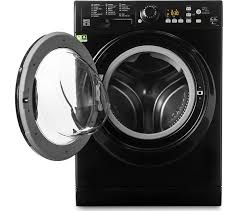 black washer and dryer. HOTPOINT Aquarius FDF 9640 K 9 Kg Washer Dryer - Black And