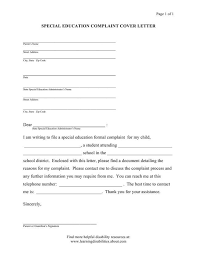idea formal complaint model form letters and forms special education cover letter sample