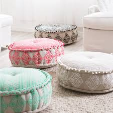 Floor Pillows And Poufs Brighten Up Your Home Daccor With The Gorgeous Boho Inspired