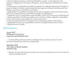 Sample Caregiver Resume Commission Invoice Template Mind Map