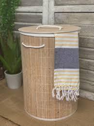 Bambus Wäschekorb Korb Korb Korb Kleider Leinen Organizer Badezimmer