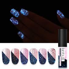 <b>LILYCUTE 5ml</b> Color <b>UV</b> Gel <b>Holographic</b> Glitter Sequins Semi ...