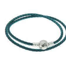 pandora mixed blue woven double leather charm bracelet 590747cbmx groupon