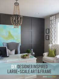 diy designer inspired large scale art frame such a gorgeous way to get