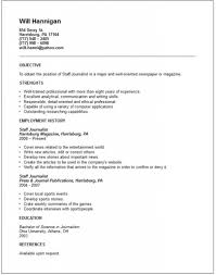 Journalist Resume Template Free Journalist Resume Templates Examples Journalism Cover Letter 22
