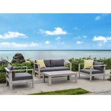 furniture wood patio furniture with cushions fascinating ove decors gueliz piece eucalyptus wood patio conversation set