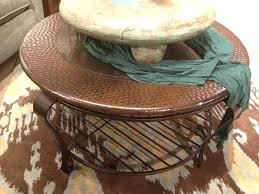hammered copper side table coffee tables round hammered copper coffee table top hand oval mission style
