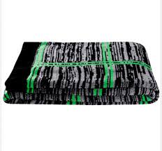 details about kas australia knitted throw blanket lime green gray black 50 60 soft new