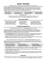 Sample Employment Resume Recruiter Resume Sample Monster Com