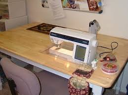 10 best Sewing Machine Table images on Pinterest | Sewing machine ... & drop-in sewing machine table. Use a dinning room table with cut out. Great  upcycle of an old table. Adamdwight.com