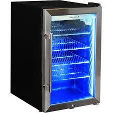 outdoor alfresco bar fridge triple glazed glass blue led available