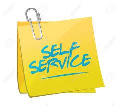 Self Service Post It Memo Illustration Design Over A White