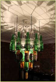 beer bottle chandelier diy