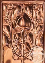 copper art nouveau wall panel