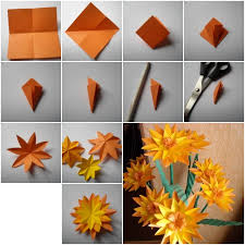 Make Flower With Paper How To Make Paper Marigold Flower Step By Step Diy Tutorial