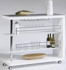 Contemporary Bar Cart w/ Stem Glass  Bar