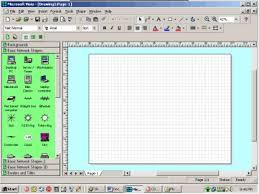 get it done microsoft visio 2000 enterprise techrepublic a basic blank network diagram screen created in microsoft visio 2000