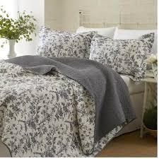 Black Floral Bedspreads Quilt Set Bedroom Comfort 100% Cotton Full ... & Black Floral Bedspreads Quilt Set Bedroom Comfort 100% Cotton Full Adamdwight.com