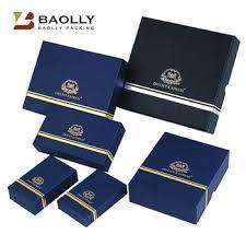 whole high quality custom printed logo rigid cardboard paper jewelry box