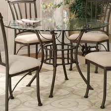 Round Glass Tables For Kitchen Cramco Inc Denali Round Glass Table Top With Molten Earth Base