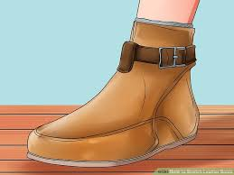image titled stretch leather boots step 7