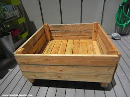 portable 4 x4 garden bed on casters