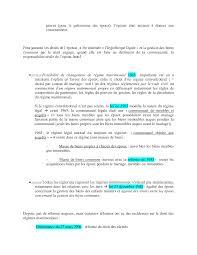 Notes Sur Le Droit Des R Gimes Matrimoniaux 3 Partie Docsity