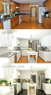 how to paint kitchen cabinets white painting cupboards before and after diy chalk refinishing