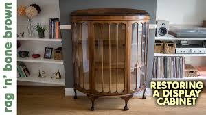 Shop for curio cabinets online at target. Repairing A Vintage Display Cabinet Part 1 Of 2 Youtube