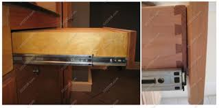 Cabinet Drawer Rails Kitchen Cabinet With Drawers Buslineus