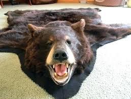 faux bear rug bear rug fake faux costco head real black bear rugs for