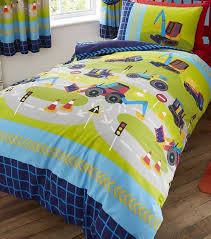 diggers and trucks single bedding